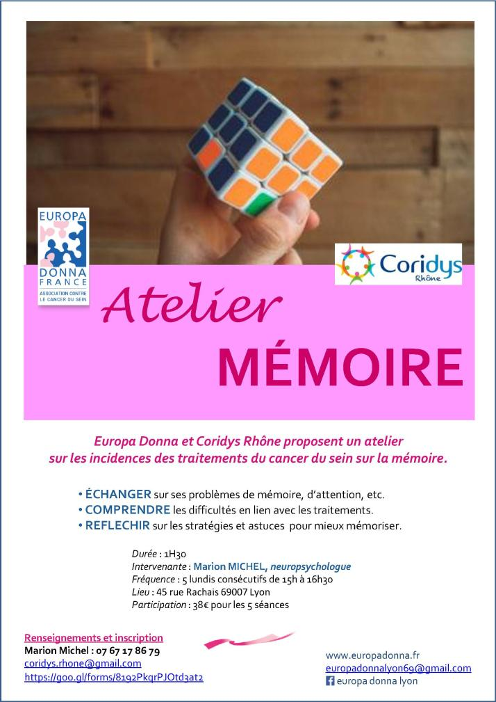 Atelier Memoire flyer recto 10 2019
