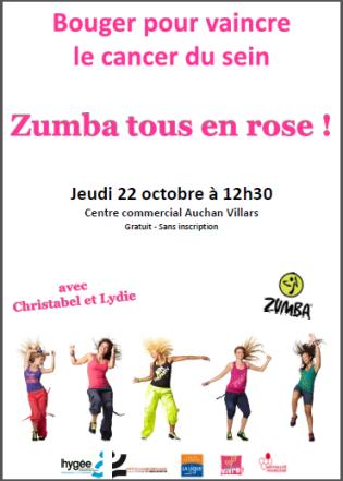 Octobre rose Zumba affiche