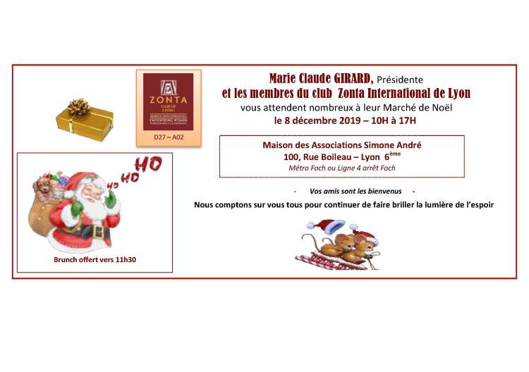 Marché de Noel 2019 ZONTA 8 12